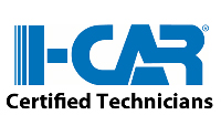 i-car trained and certified auto body and paint technicians