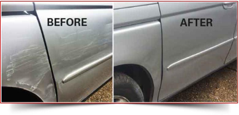 Scratch Dent Repair Before & Aftrer