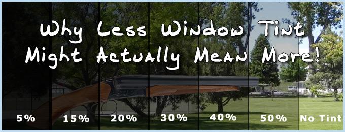 Window Tint Percentage Chart California